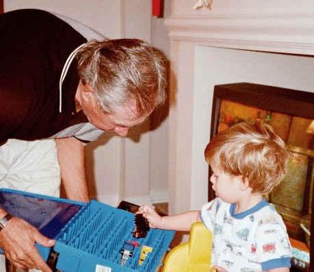 Zachary and Grandpa Dexter