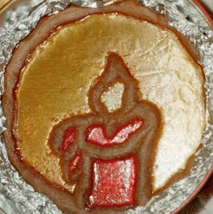 candle stained glass cookie